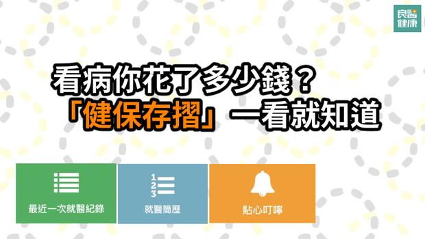 台灣健保快破產,你看病花了多少錢?「健保存摺」用藥紀錄、看診資訊...10大功能一次看